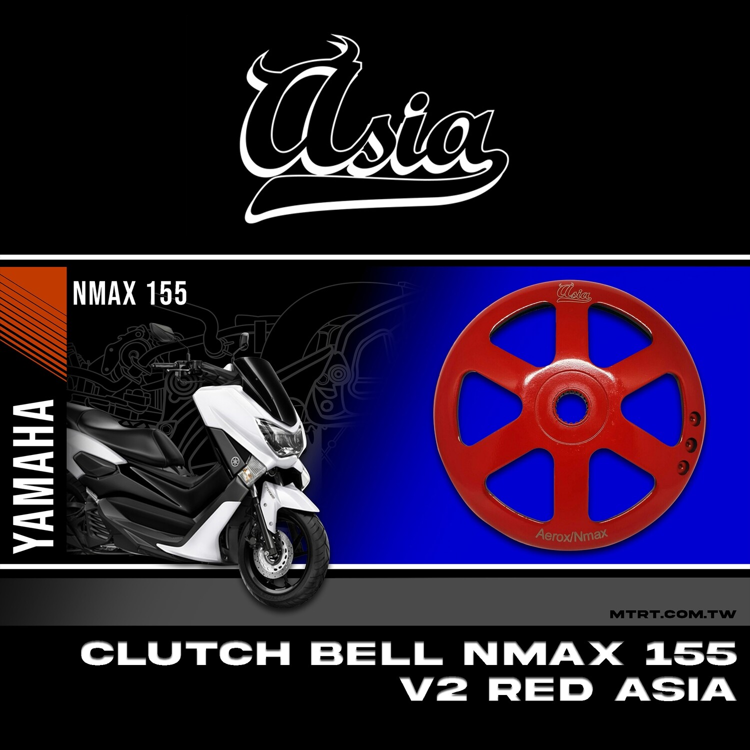 CLUTCH BELL V2 NMAX RED ASIA
