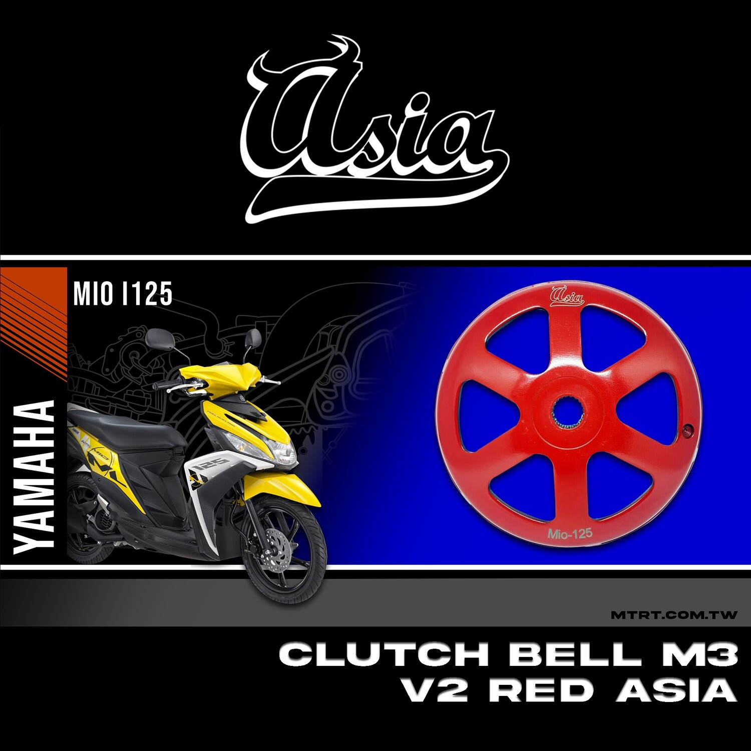 CLUTCH BELL V2 M3 MIOi125 RED ASIA