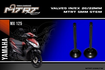 VALVES  INEX  MIO5 26/22mm MTRT 5mm stem mainEa44th 33-D