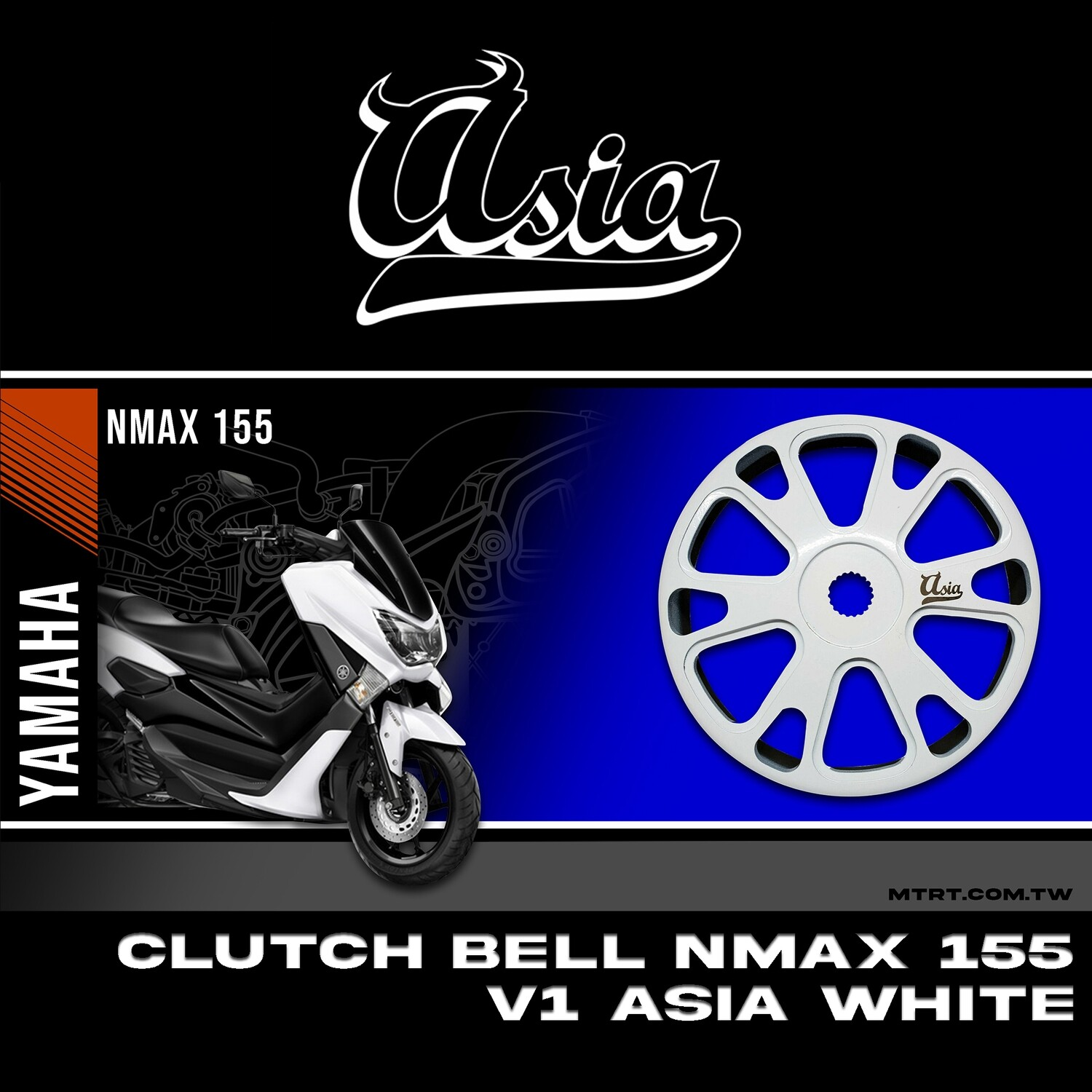 CLUTCH BELL NMAX155  V1 ASIA WHITE