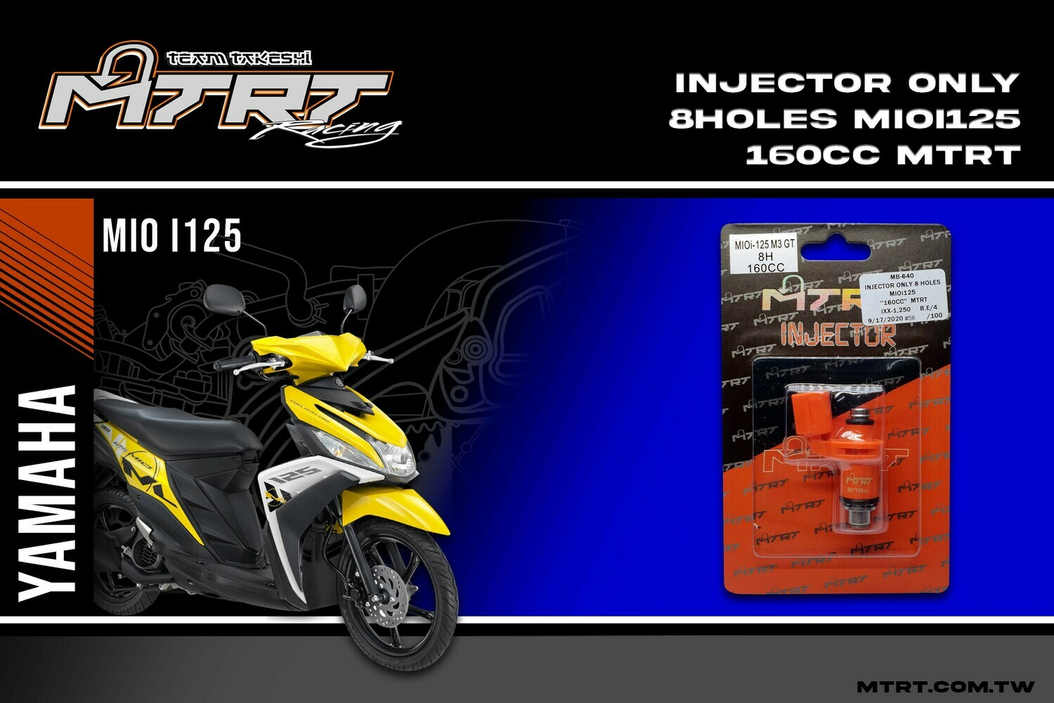 INJECTOR ONLY 8HOLES  MIOi125  160CC MTRT