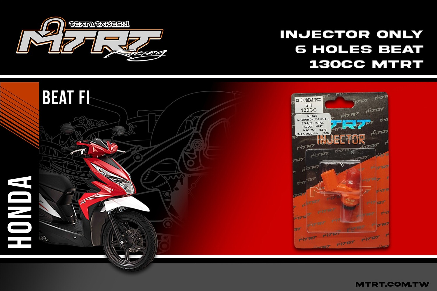INJECTOR ONLY 6HOLES BEAT CLICK PCX 130CC MTRT