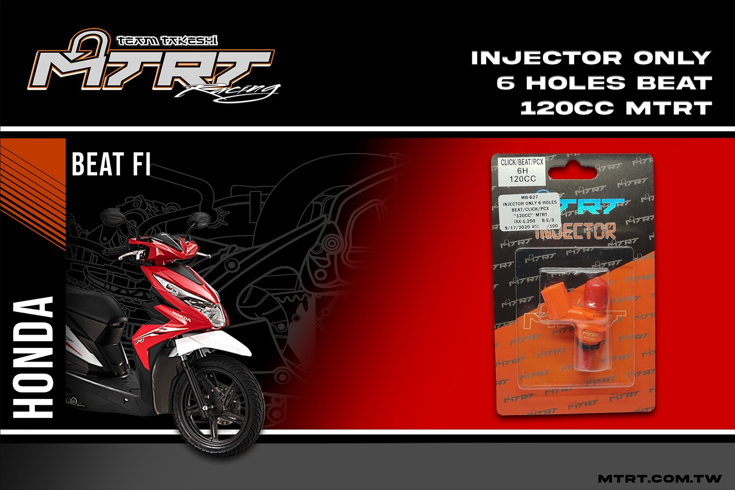INJECTOR ONLY 6HOLES BEAT CLICK PCX 120CC MTRT