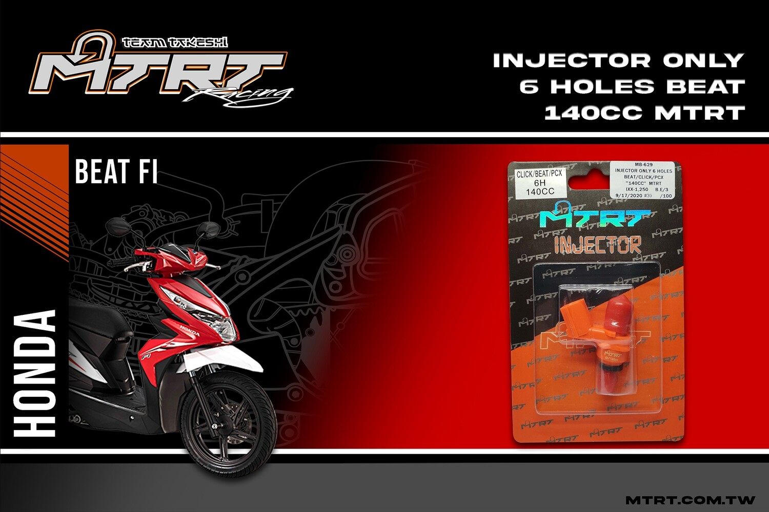 INJECTOR ONLY 6HOLES BEAT CLICK PCX140CC MTRT
