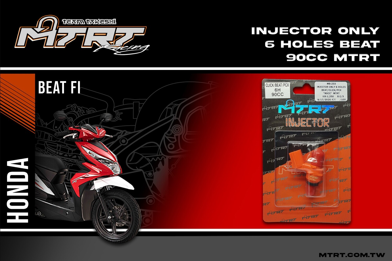 INJECTOR ONLY 6HOLES BEAT CLICK PCX 90CC MTRT