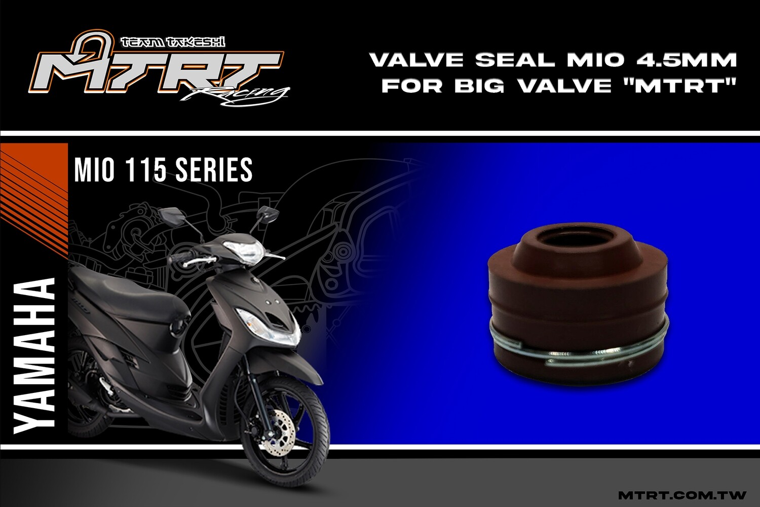 VALVE SEAL MIO 4.5mm  for big valve MTRT