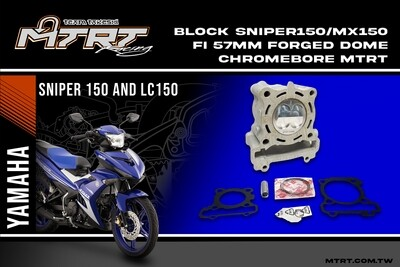 SNIPER150 57mm Chromebore Block with Forged HI DOME Piston MTRT
