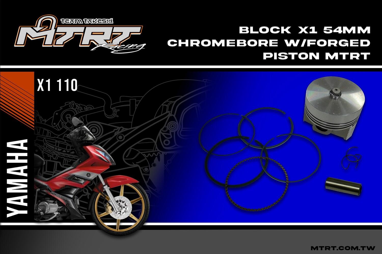 BLOCK X1 54MM Chromebore w/FORGED PISTON KIT MTRT