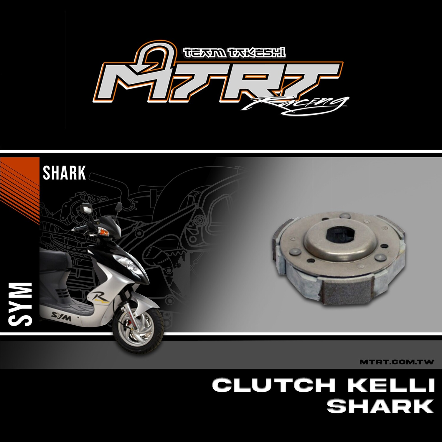 CLUTCH  KELLI GY6125 SHARK SUPER8 MOVIE Main. Bd6