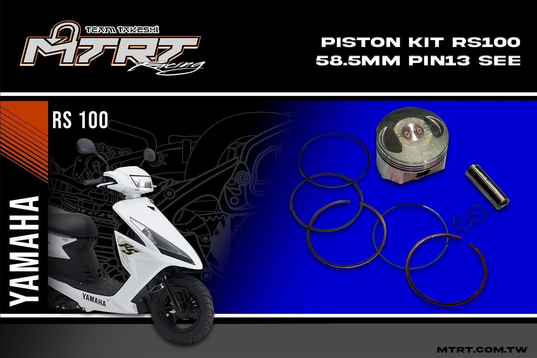 PISTON KIT  RS100 58.5mm pin13 see