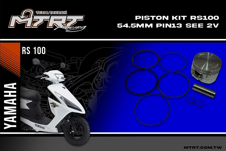 PISTON KIT  RS100  54.5mm PIN13 SEE 2V