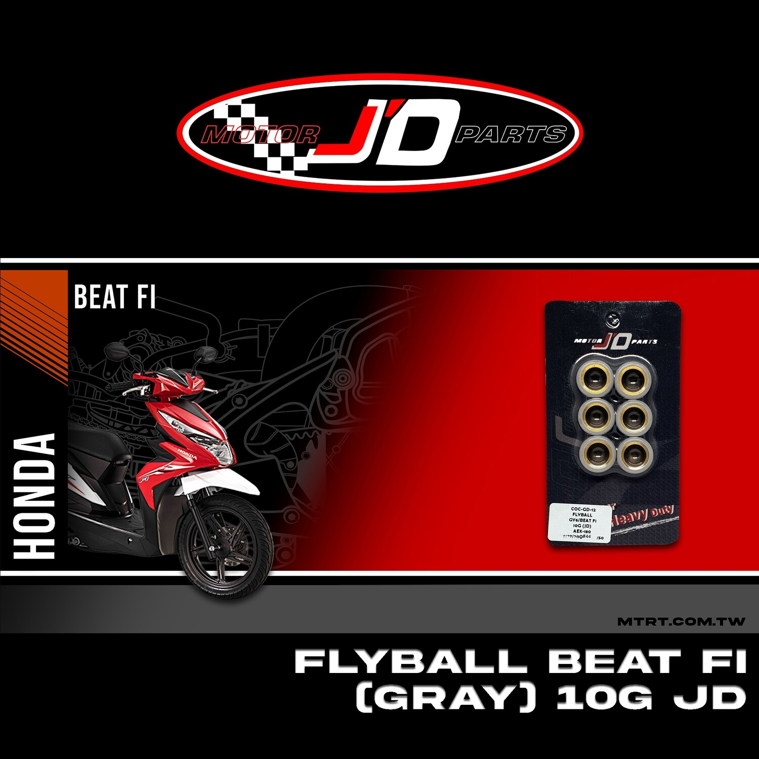 """FLYBALL 10G GY6 """"JD"""""""