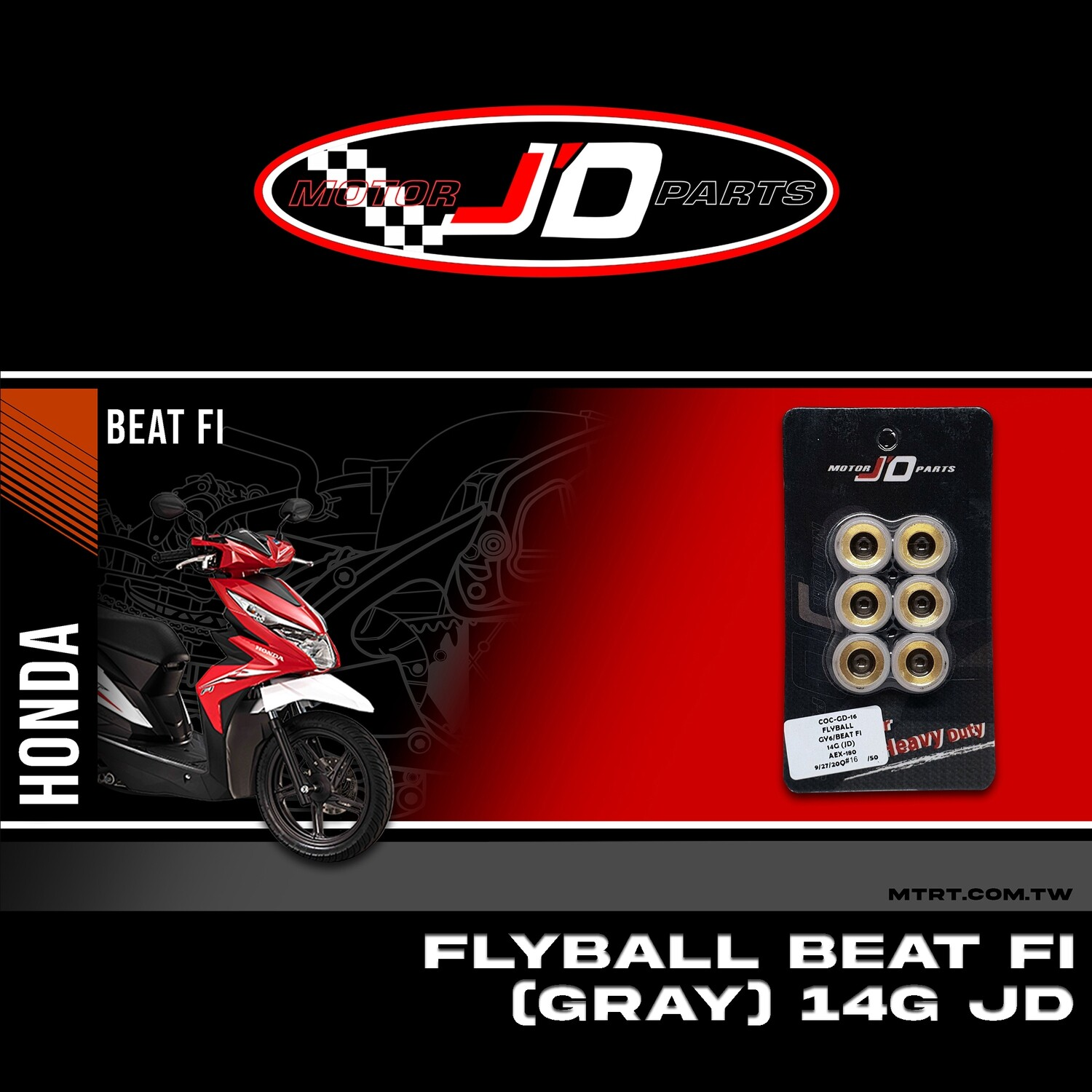 FLYBALL GY6 (gray) 14G JD (B.I/8)