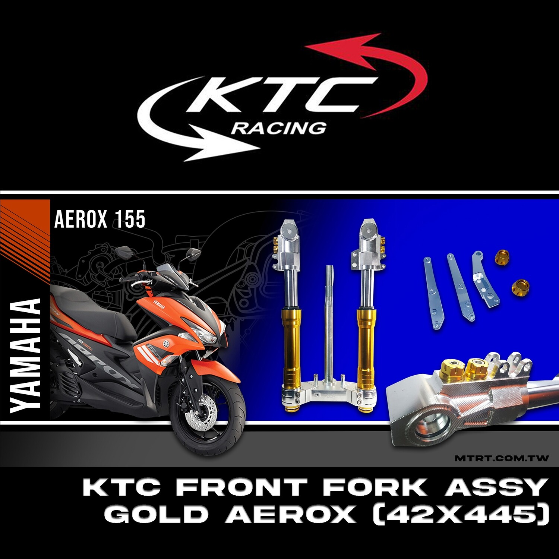 KTC FRONT FORK ASSY GOLD AEROX