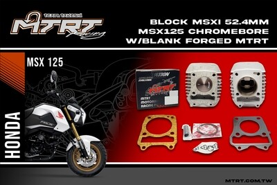52.4MM MSX125Chromebore Cylinder Block with blank forged piston MTRT