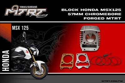 57mm Chromebore CYLINDER BLOCK for Honda MSX125 with Forged Piston Kit