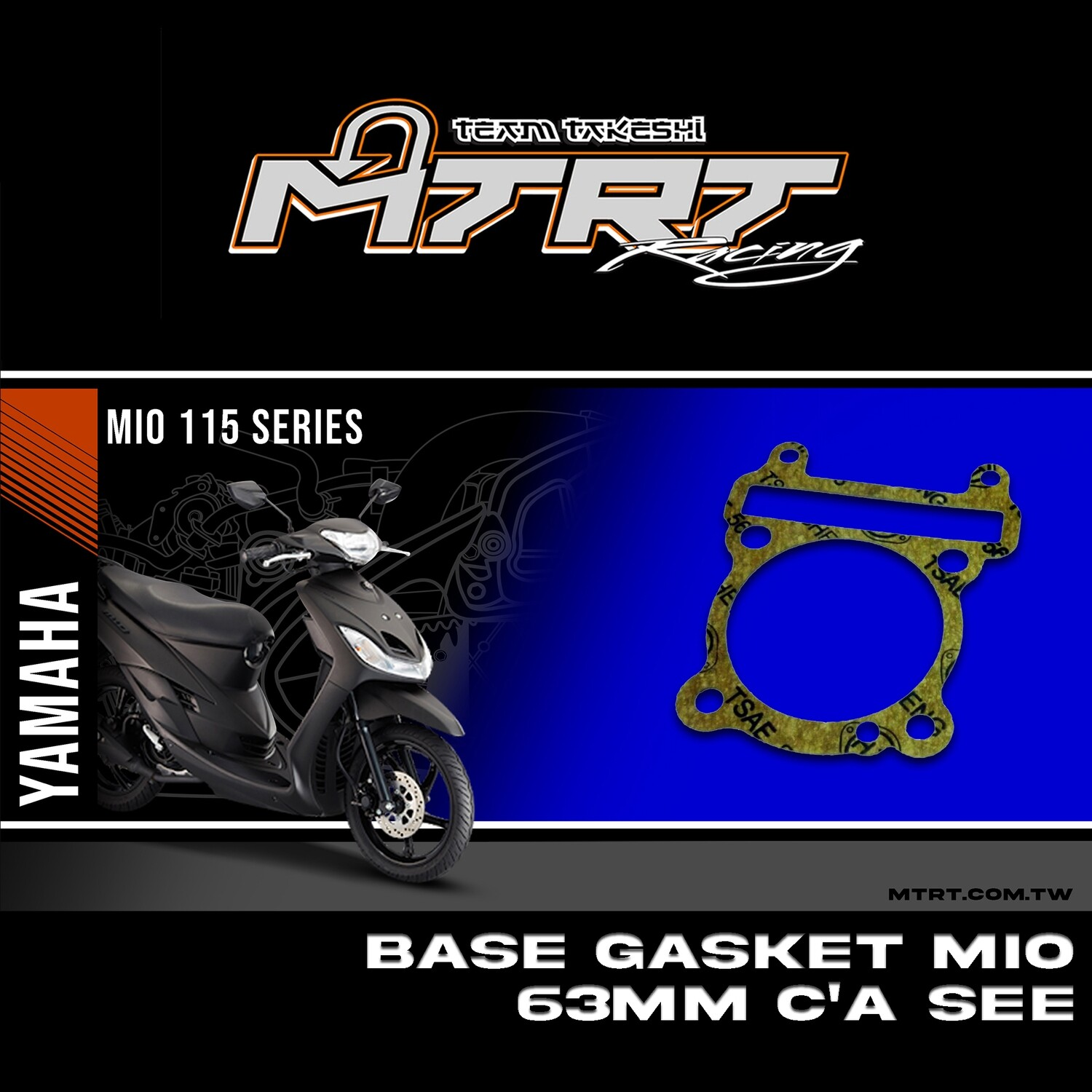 BASE GASKET  MIO  63MM  C'A SEE