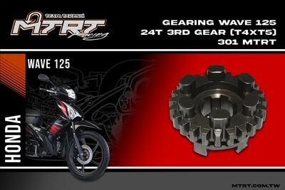GEARING  WAVE125 24T 3rd gear (T4XT5)301 MTRT