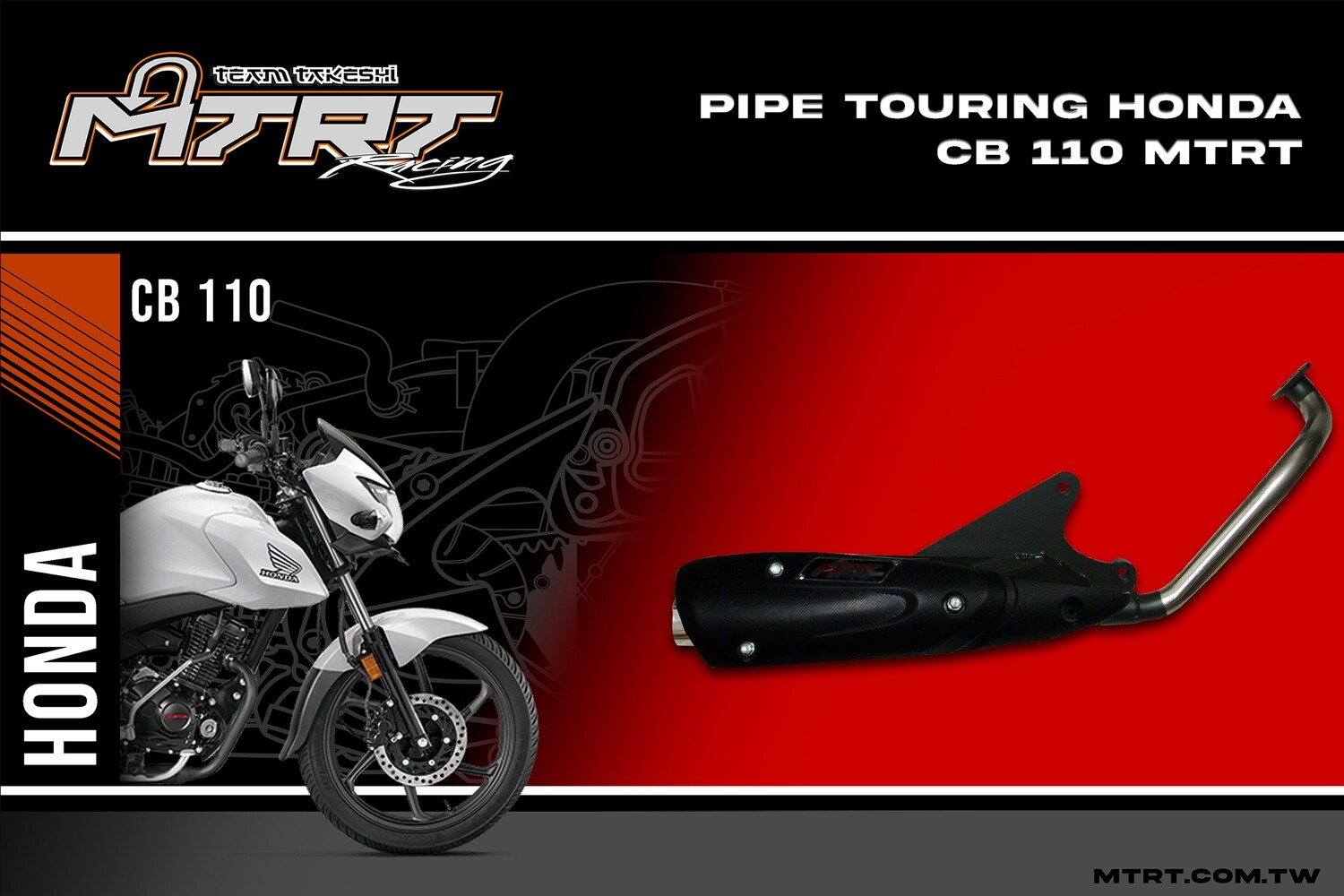 PIPE TOURING honda CB110
