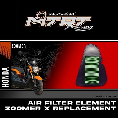 ZOOMER X AIR FILTER ELEMENT REPLACEMENT