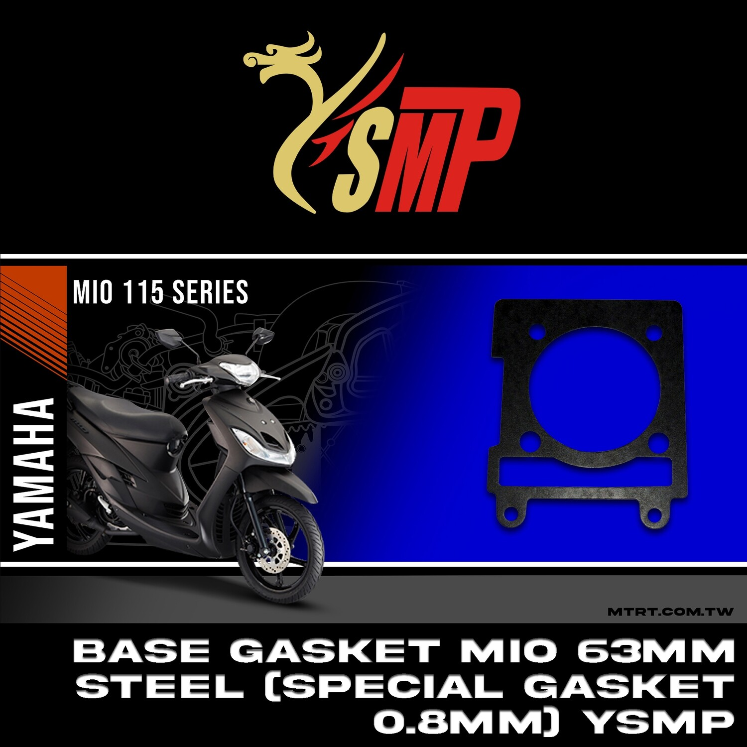 SPECIAL ALLOY BASE GASKET 63MM MIO