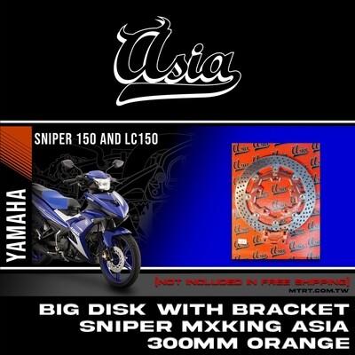 BIG DISK SNIPER Mxking ORANGE 300MM w/bracket  ASIA
