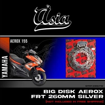 BIG DISK AEROX NMAX FRT SILVER 260MM w bracket ASIA