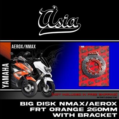 BIG DISK NMAX Aerox FRT Orange  260MM w/ bracket ASIA
