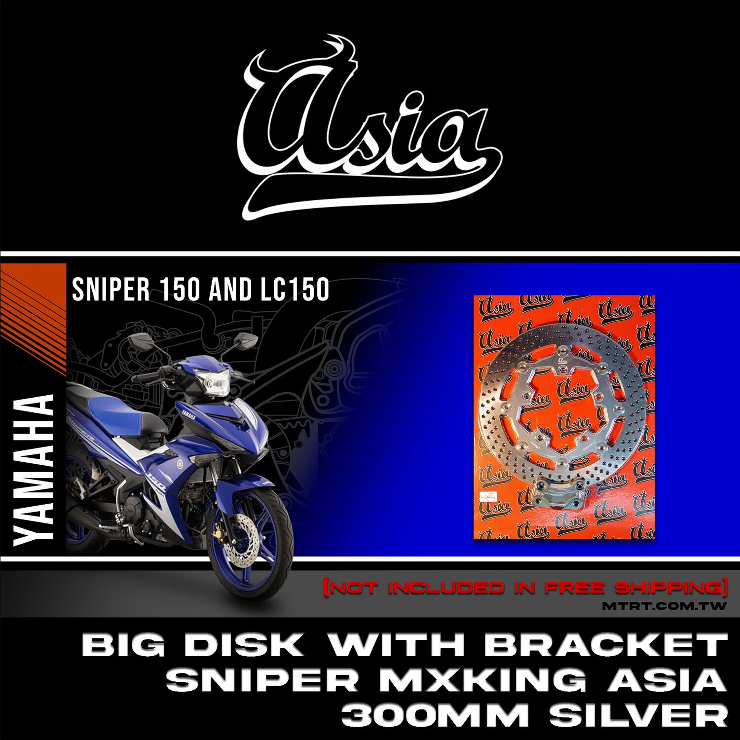 BIG DISK SNIPER MXKing SILVER 300MM with bracket  ASIA