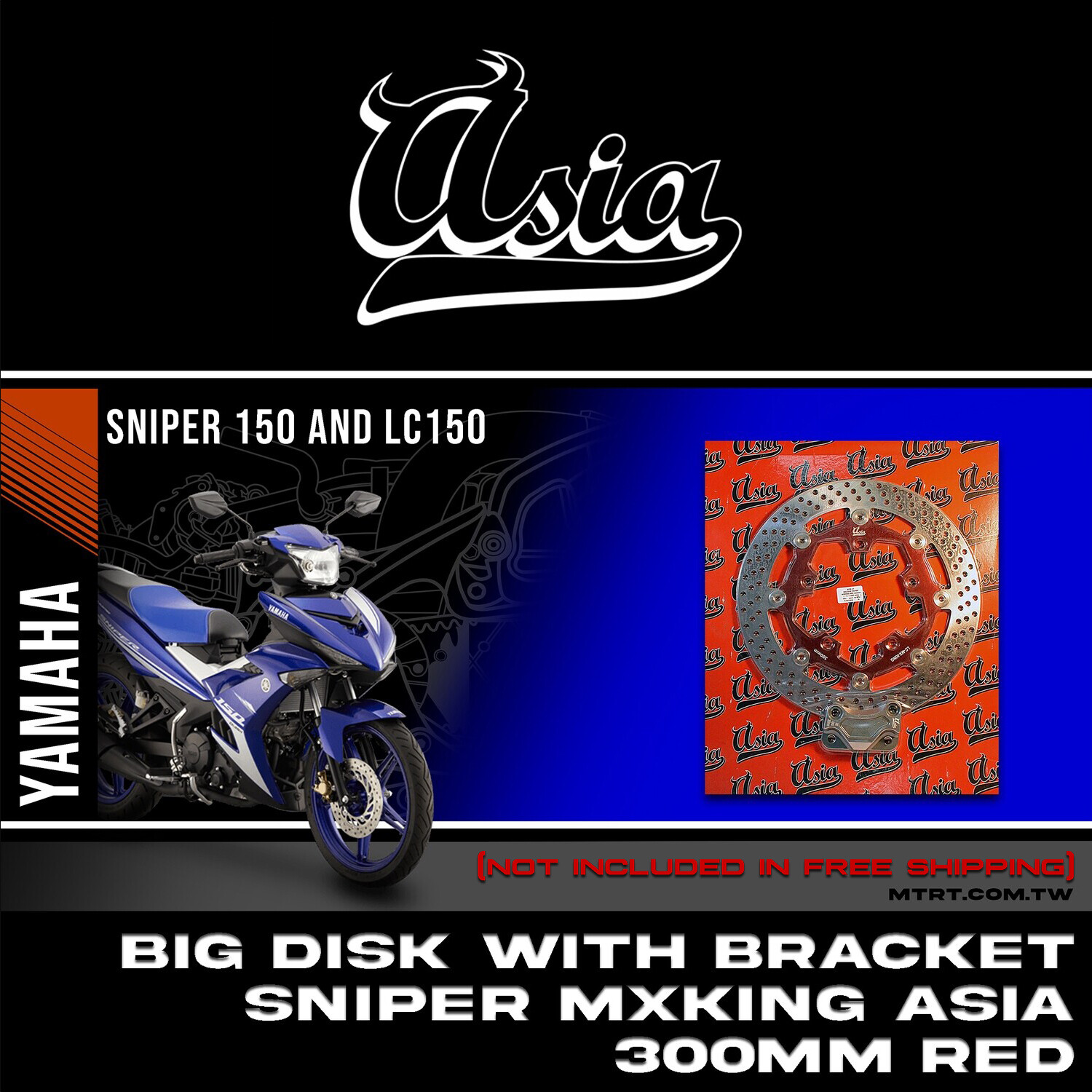 BIG DISK SNIPER Mxking RED 300MM with Bracket  ASIA