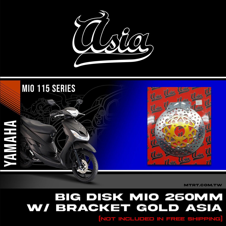 BIG DISK MIO 260MM with bracket GOLD ASIA