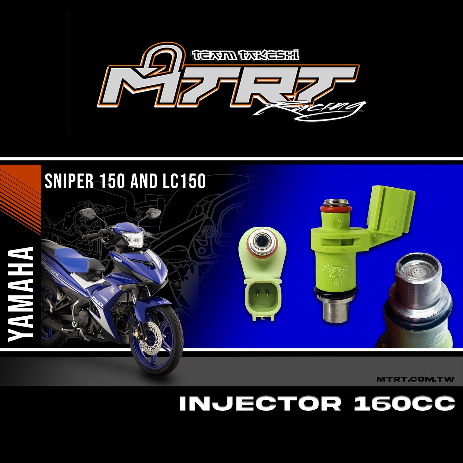 INJECTOR ONLY 6HOLES GREEN  160CC