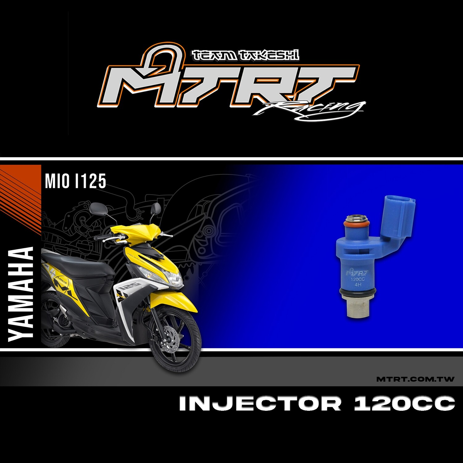INJECTOR ONLY 4HOLES BLUE 120CC
