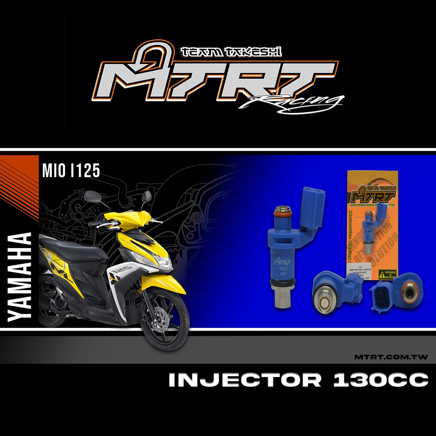 INJECTOR ONLY 4HOLES BLUE 130CC