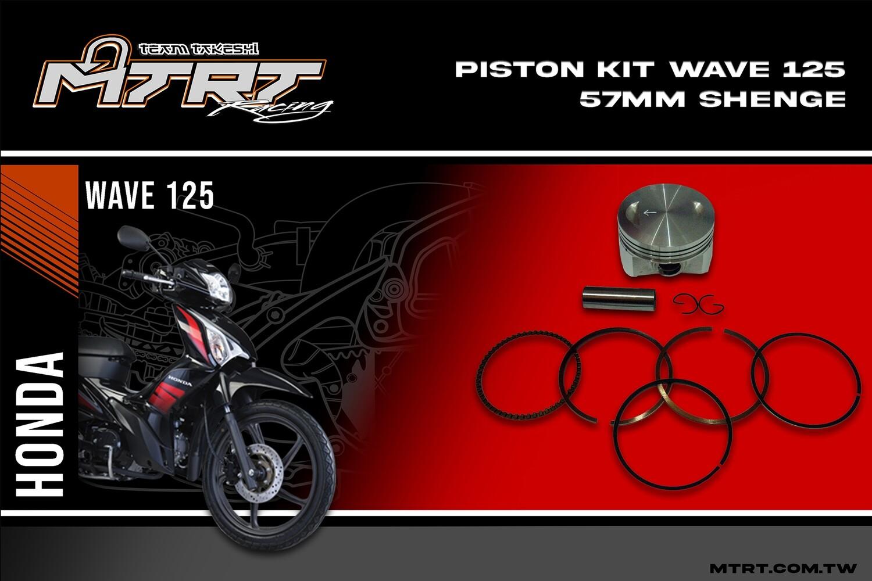 PISTON KIT WAVE125 57MM  Sheng-E
