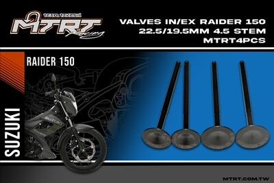 VALVES IN-EX RAIDER150 19.5X22.5mm 4pcs MTRT
