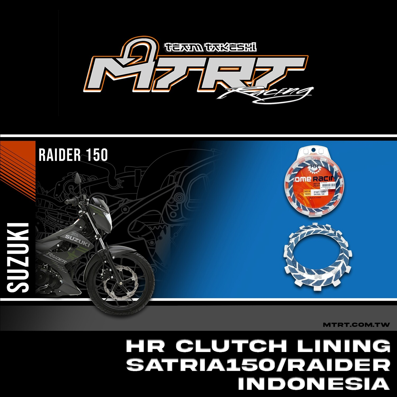 HR CLUTCH LINING SATRIA 150/RAIDER INDONESIA