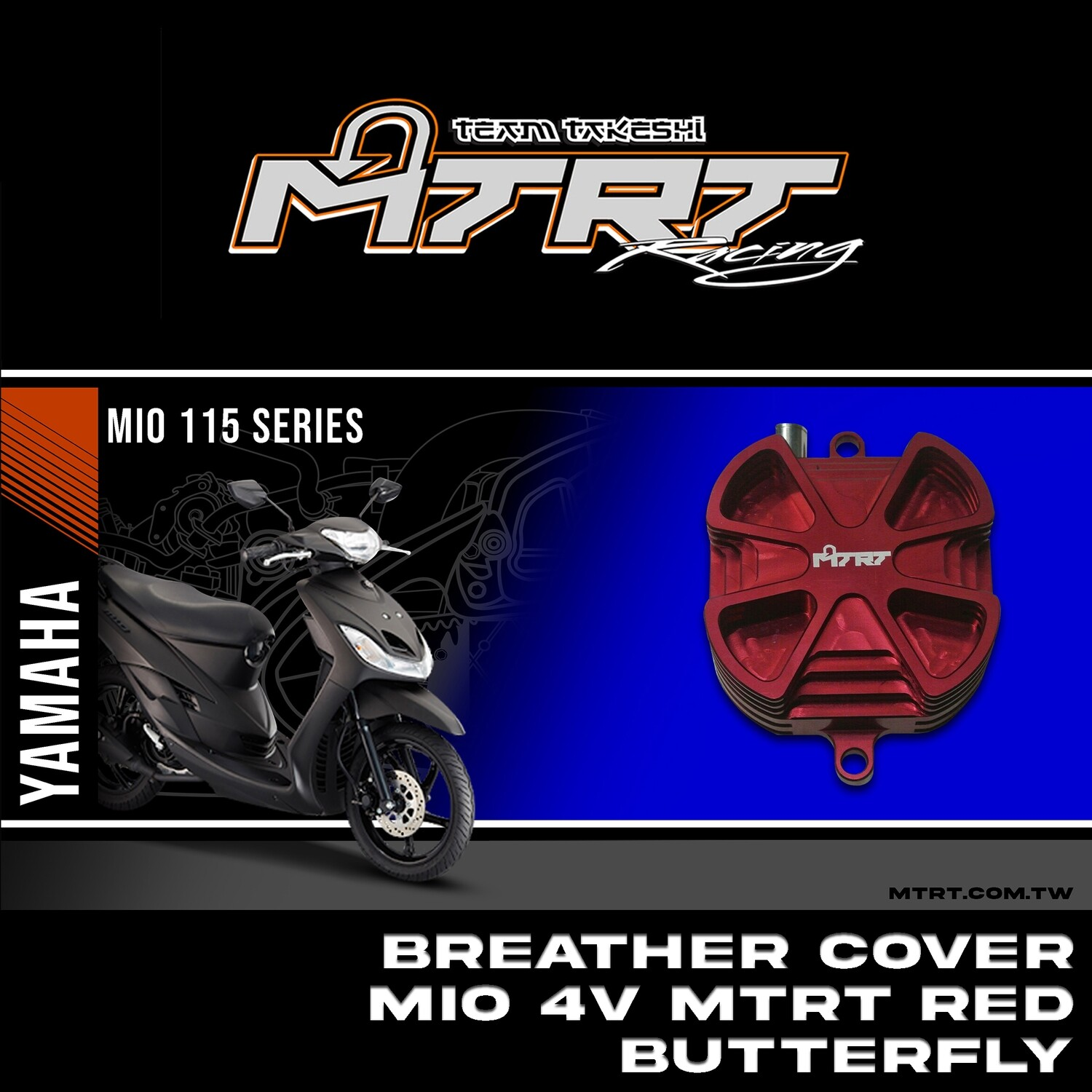 BREATHER COVER MIO 4v MTRT Red  BUTTERFLY