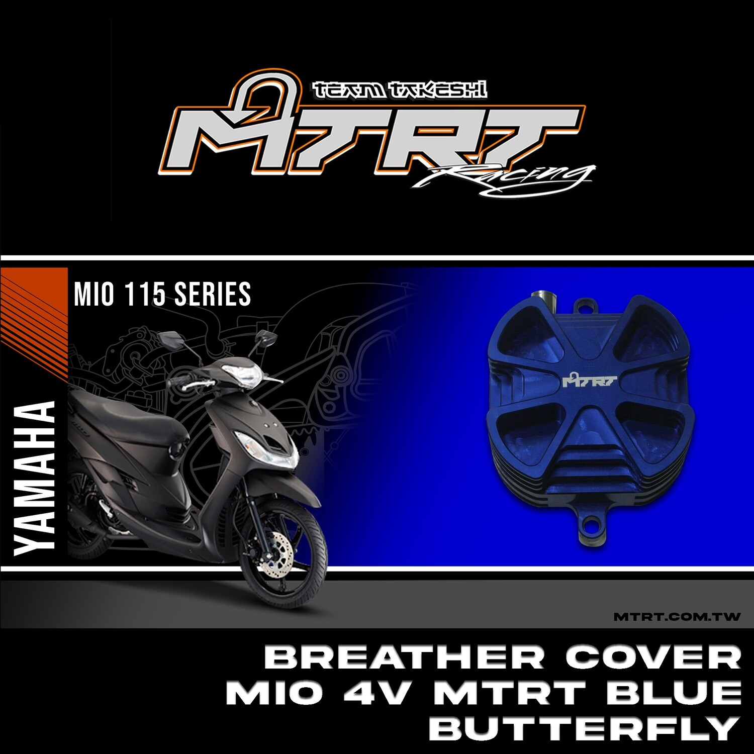 BREATHER COVER MIO 4v MTRT Blue BUTTERFLY