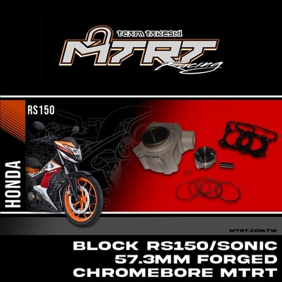 57.3MM BLOCK RS150 SONIC  57.3MM Forged Chromebore MTRT