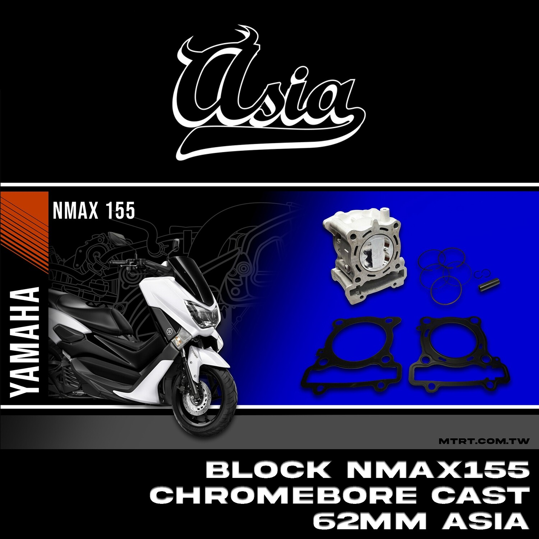 BLOCK NMAX155 CHROMEBORE CAST 62MM ASIA