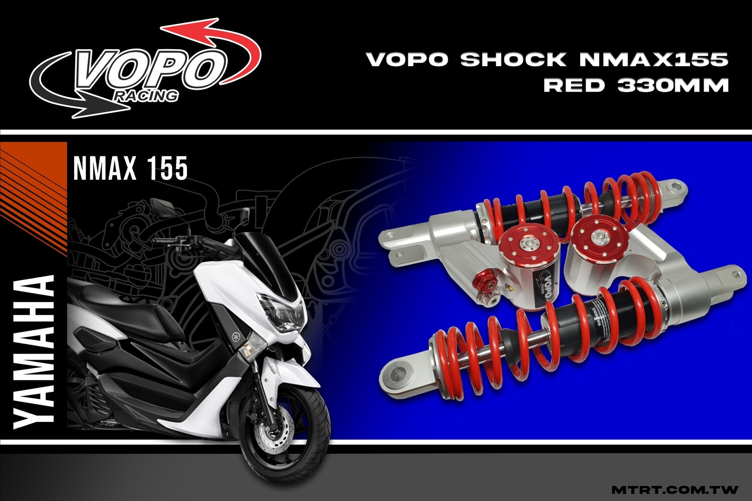 VOPO SHOCK NMAX155  RED 330MM