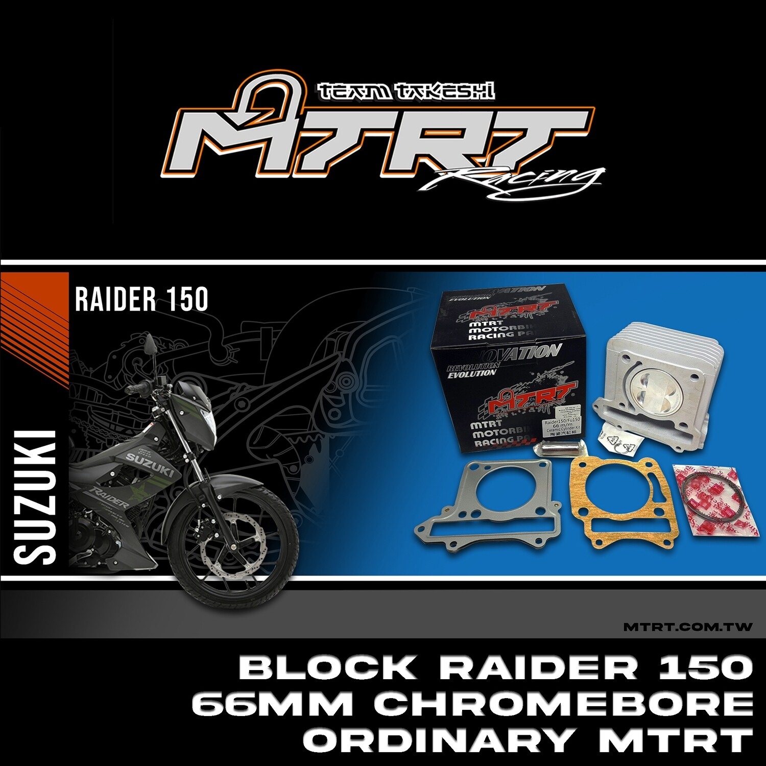 BLOCK RAIDER150  66MM Chromebore Ordinary MTRT