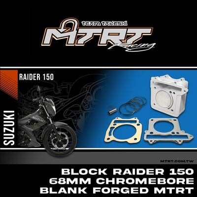 BLOCK RAIDER150  68MM Chromebore Blank Forged MTRT