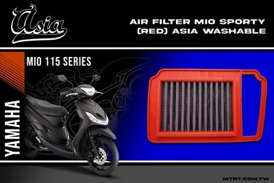 AIR FILTER MIO1 2 SPORTY (RED) ASIA WASHABLE