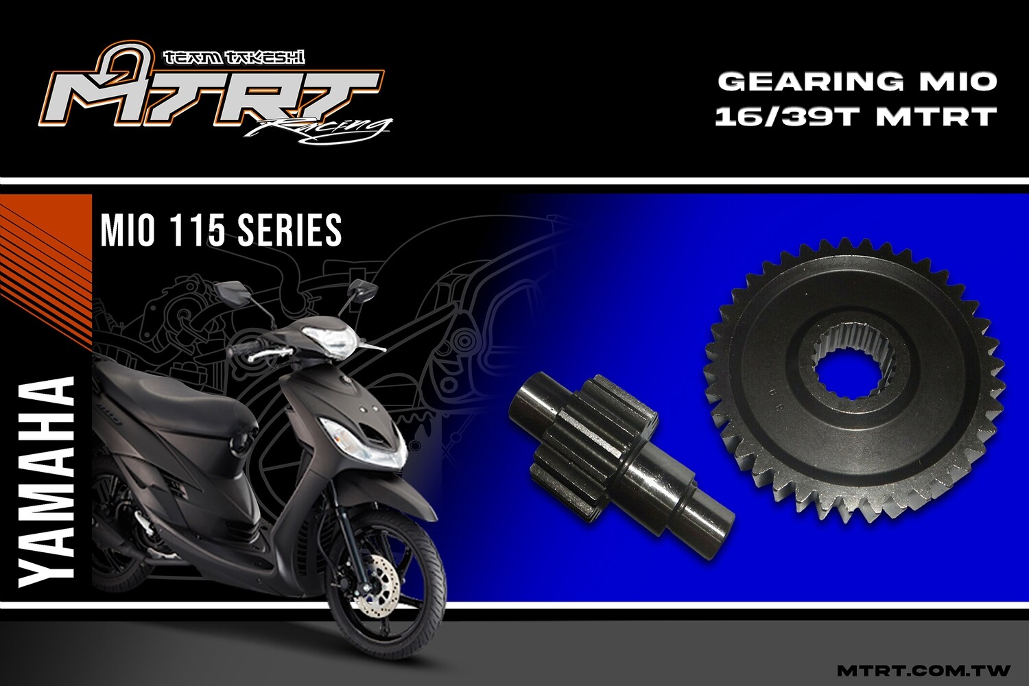 GEARING  MIO  16/39T  MTRT