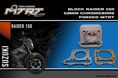 62MM RAIDER150 Chromebore Block with forged piston MTRT