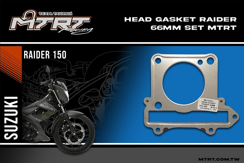 HEAD GASKET  RAIDER 66MM SET MTRT