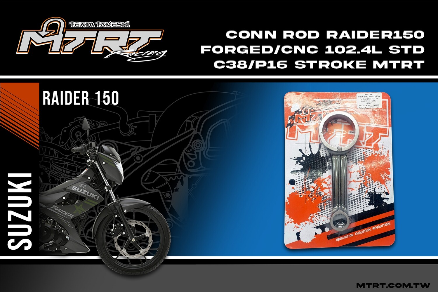 CONN ROD Forged/CNC102.4L C38/P16 stroke