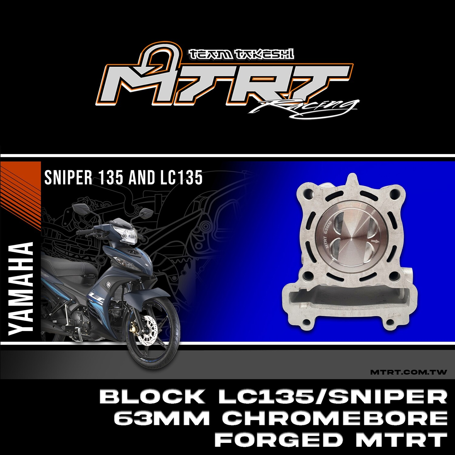 BLOCK LC135/SNIPER  63mm chromebore  FORGED MTRT